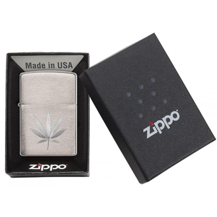 21893 Chrome Marijuana Leaf Design