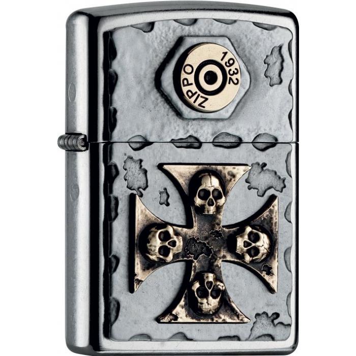 25474 Vintage Cross Skull