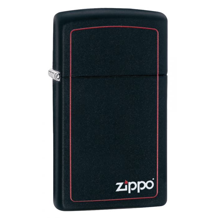 26055 Slim® Black Matte with Red Border