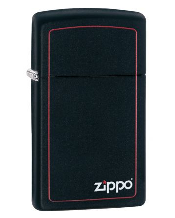 26055 Slim® Black Matte with Red Border
