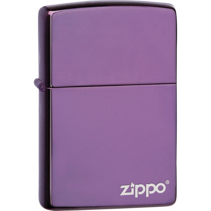26415 High Polish Purple Zippo Logo