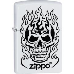 26635 Zippo Flaming Skull