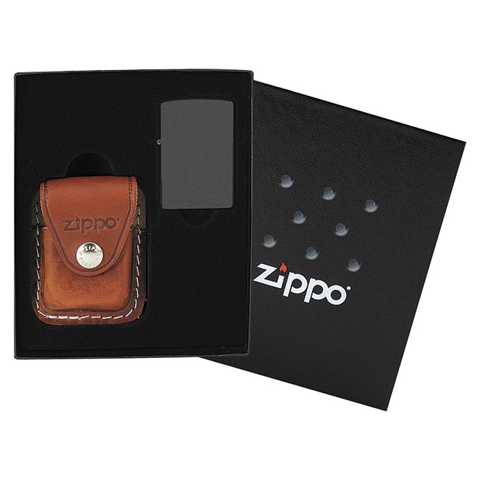 44065 Dárková kazeta Zippo s hnědým pouzdrem