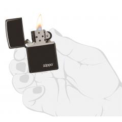 26332 High Polish Black Zippo Logo