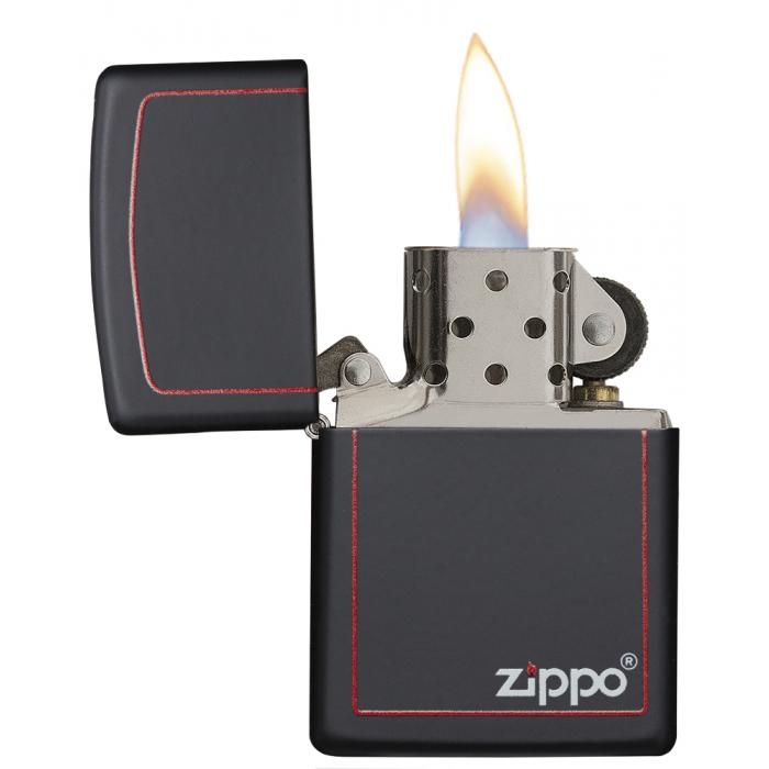 26117 Black Matte with Zippo & Border