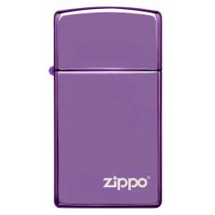 26002 Slim® High Polish Purple Zippo Logo