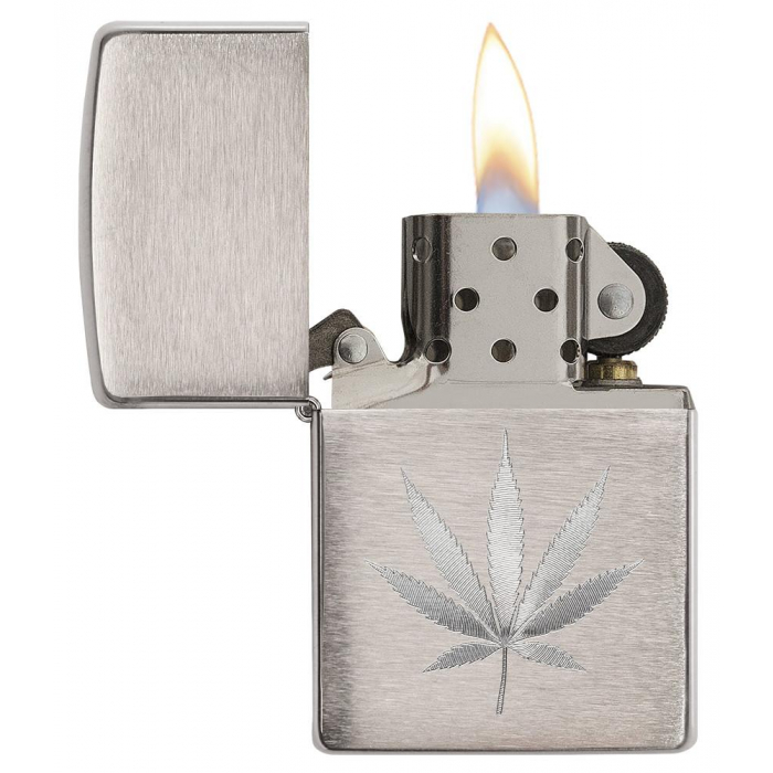 21893 Chrome Marijuana Leaf Design