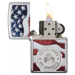 22003 American Stamp on Flag