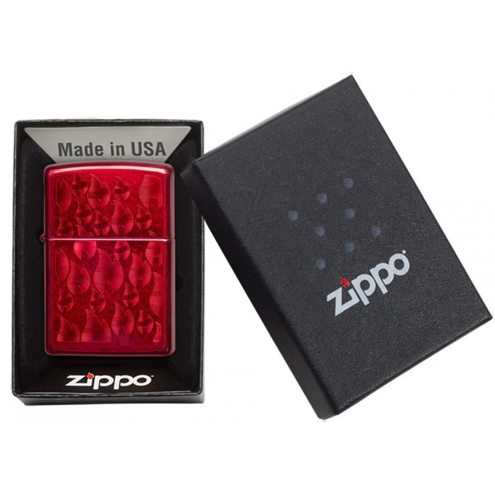 26851 Iced Zippo Flame Design