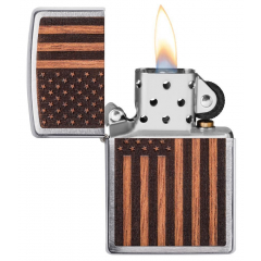 21909 Woodchuck USA American Flag