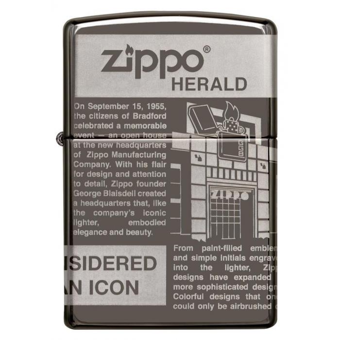 25528 Zippo Newsprint Design
