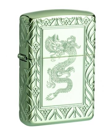 26885 High Polish Green Elegant Dragon