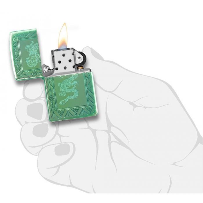 26885 High Polish Green Elegant Dragon