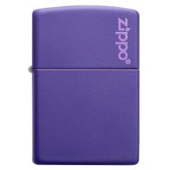 26097 Purple Matte Zippo Logo