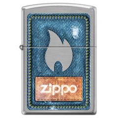 21930 Denim Zippo and Flame
