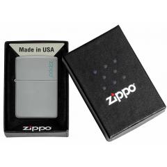 26948 Flat Grey Zippo Logo
