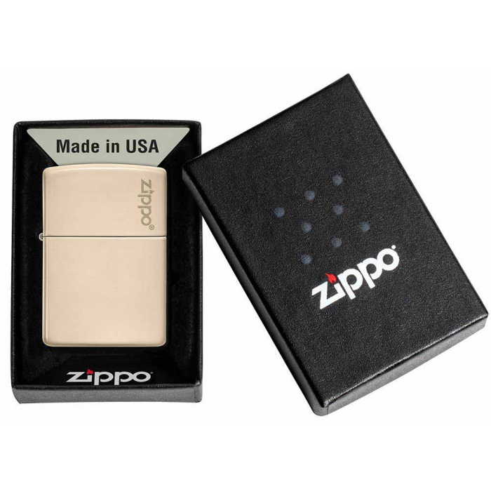 26950 Flat Sand Zippo Logo