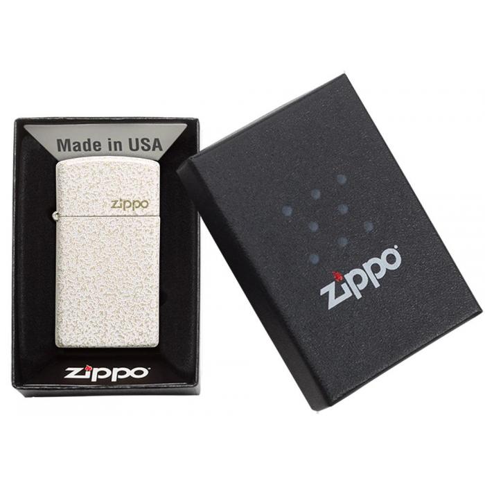 26960 Slim® Mercury Glass Zippo Logo
