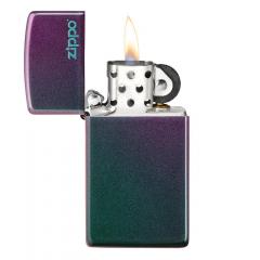 26962 Slim® Iridescent Zippo Logo